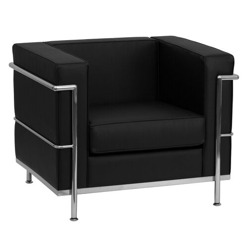 Our HERCULES Regal Series Contemporary Black Leather Chair with Encasing Frame is on sale now.