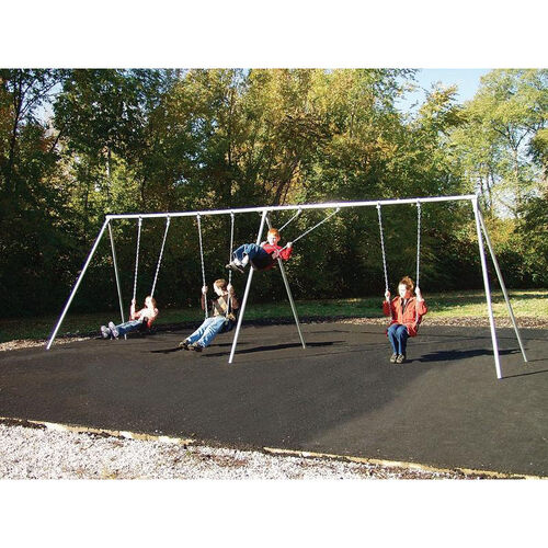 Our Four Seat Primary Bipod Swing Set with Galvanized Swing Chains and Thirteen Gauge Steel Frame - 120