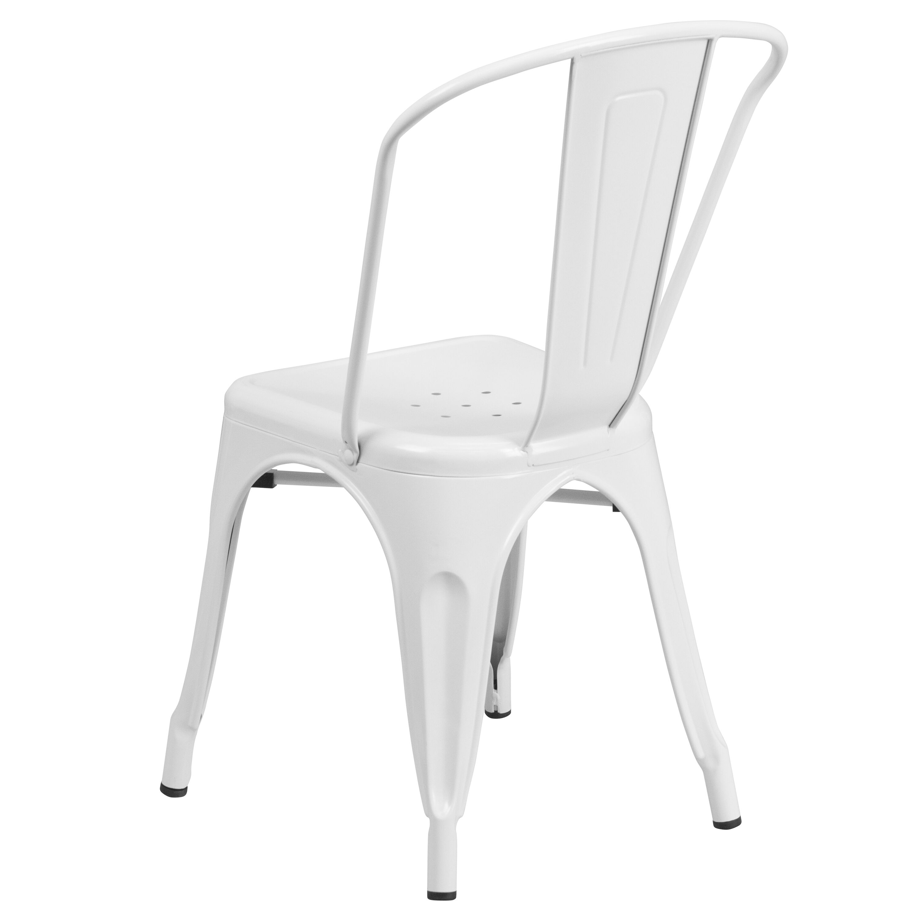 Our White Metal Indoor Outdoor Stackable Chair Is On Sale Now.
