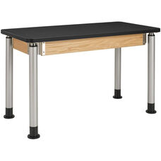 Adjustable Height Science Lab Table with 1.25