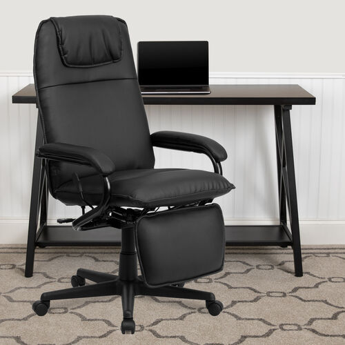 High Back LeatherSoft Executive Reclining Ergonomic Swivel Office Chair with Arms