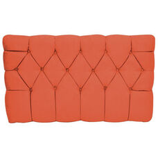 Kids Meridia Collection - Tufted Upholstered Twin Headboard - Orange Suede
