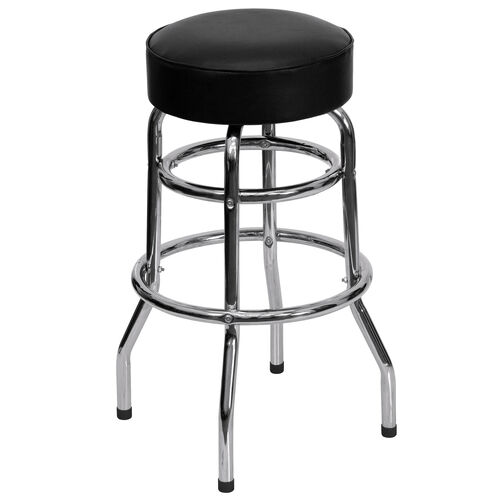 Our Double Ring Chrome Barstool is on sale now.