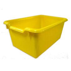 Versatile Scoop Front Plastic Storage Bins - Yellow - 11.5