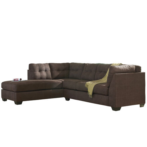 Our Benchcraft Maier Sectional with Left Side Facing Chaise in Walnut Microfiber is on sale now.