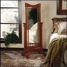 Cheval Mirror - Mission Oak