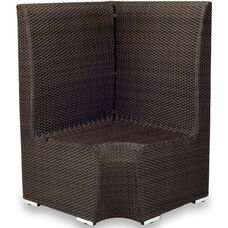 Boca Duraweave Corner Dining Low Back Booth - Espresso
