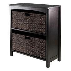 Terrace 3-Pc Storage 3-Tier Shelf with 2 Large Baskets