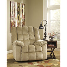 Signature Design by Ashley Ludden Power Rocker Recliner in Sand Twill