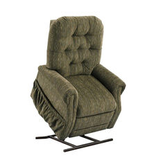 Two Way Reclining Power Lift Chair with Matching Arm and Headrest Covers - Bromley Forest Fabric