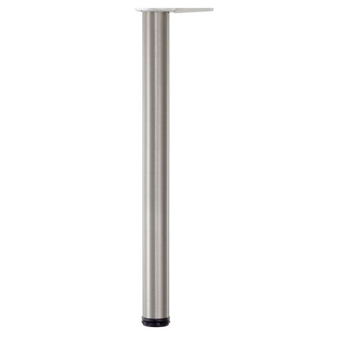 Our Hamburg Brushed Stainless Steel Single Table Leg - 27.75