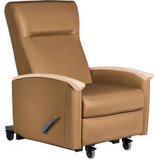 Harmony Mobile Medical Rocker / Lock Recliner with Closed Arms - Grade 2 Fabric