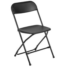 Capacity Premium Black Plastic Folding Chair