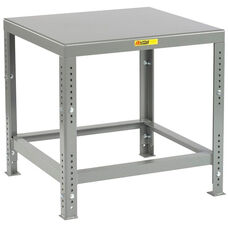 Adjustable Height Heavy-Duty Machine Table with Flush Top - 30