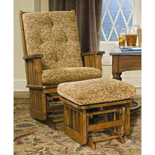 Oak wood mission glider bizchair