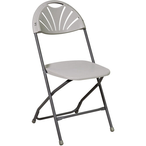 Our Work Smart Plastic Folding Chair - Set of 4 - Grey is on sale now.