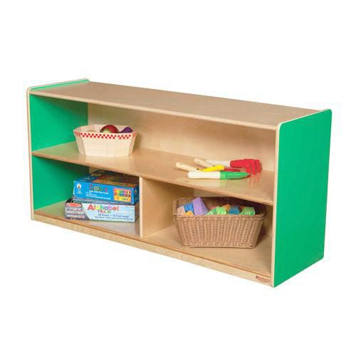 Green Apple Versatile Single Plywood UV Finished Storage Unit with Rolling Casters - Assembled - 48