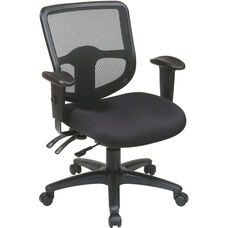 Pro-Line II ProGrid® Ergonomic Task Chair with ProGrid Mesh Back and Adjustable Arms - Black