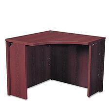 HON® 10500 Series Curved Corner Workstation - 18 x 36 x 36 x 18 x 29-1/2h - Mahogany