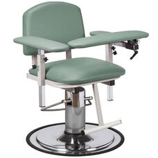 H Series Padded Adjustable Blood Drawing Chair with Padded Arms