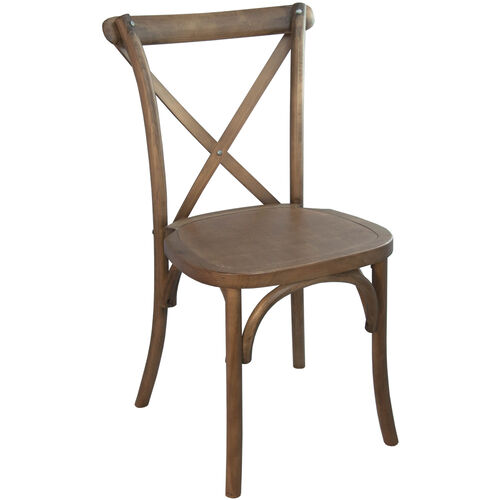 Advantage Light Brown X-Back Chair