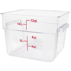12 Quart Polycarbonate Square Food Storage Container in Clear