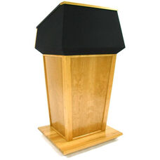 Patriot Plus Non-Sound Solid Hardwood Lectern - Oak Finish - 31