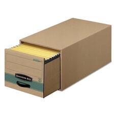 Bankers Box® Super STOR/DRAWER Steel Plus Storage Box - Letter - Kraft/Green - 6/Carton