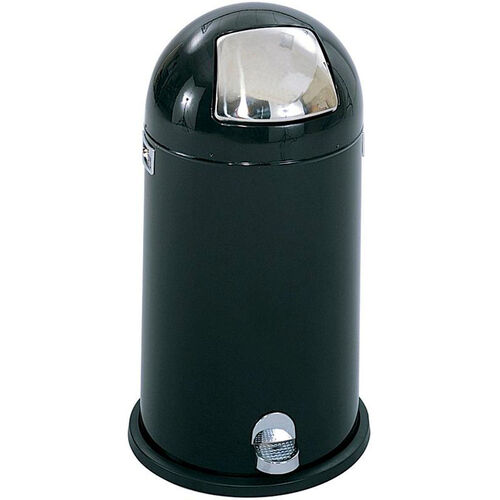 Our 12 Gallon Step on Dome Receptacle - Black is on sale now.