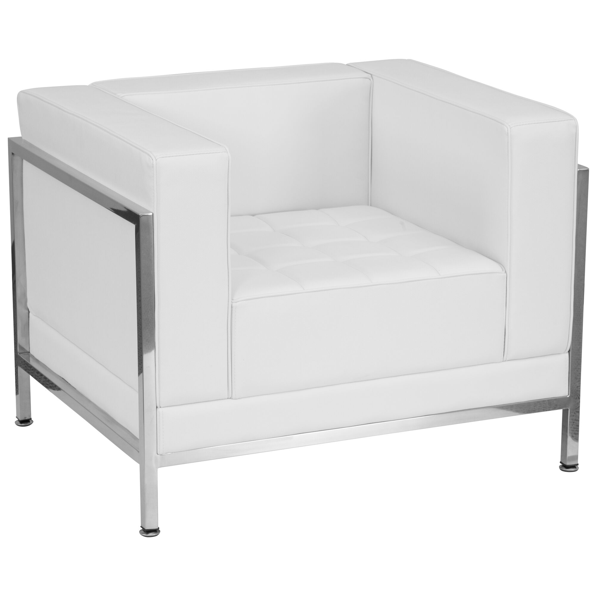 Amazing Hercules Imagination Series Contemporary Melrose White Leather Chair With Encasing Frame Cjindustries Chair Design For Home Cjindustriesco