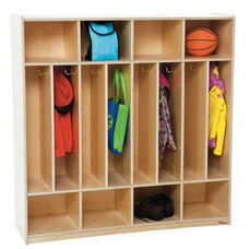 8-Section Space-Saver Locker with Two Hooks in Each Section - Assembled - 48