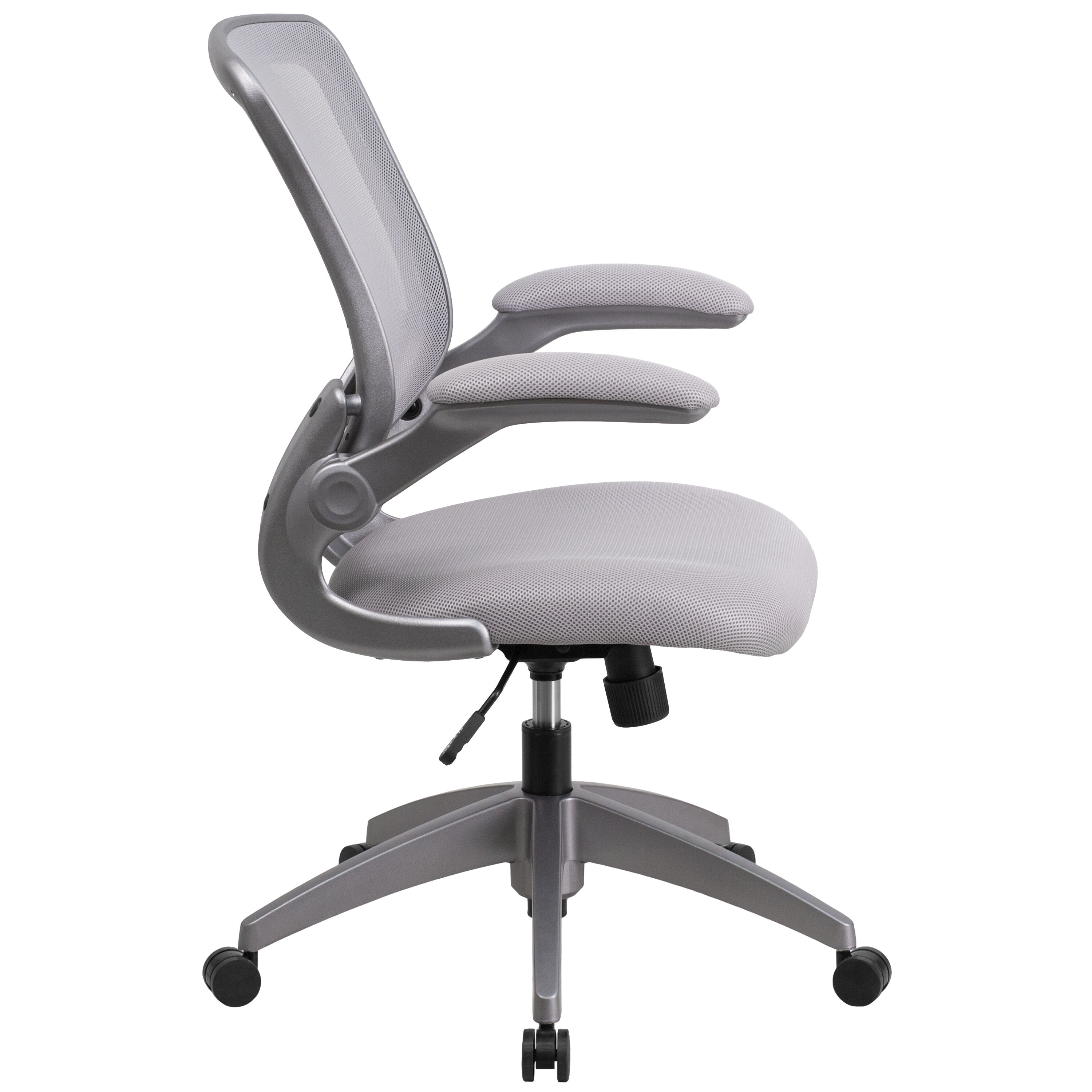 ... Our Mid Back Gray Mesh Swivel Task Chair With Gray Frame And Flip Up ...
