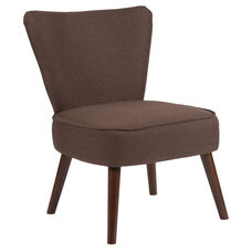 HERCULES Holloway Series Brown Fabric Retro Chair