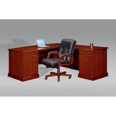 Belmont Right Executive L Desk - Brown Cherry