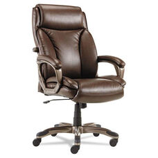 Alera® Veon Series Executive High-Back Leather Chair - w/ Coil Spring Cushioning - Brown