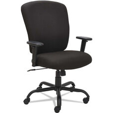 Alera® Mota Series Big and Tall Office Chair with Height-Adjustable Arms - Black