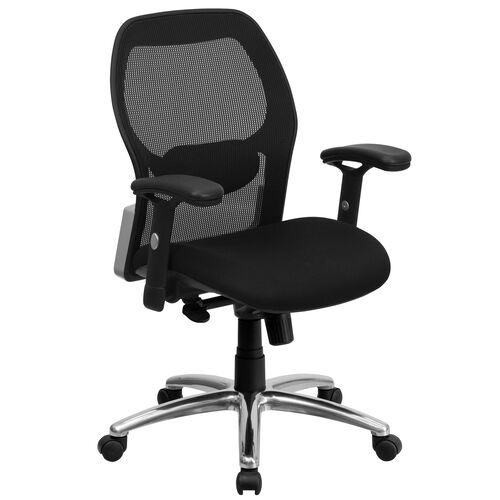 Mid-Back Super Mesh Executive Swivel Office Chair with Knee Tilt Control and Adjustable Arms