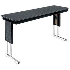 Customizable Symposium Adjustable Height Training Table with Chrome Legs - 18''W x 60''D x 25-32''H