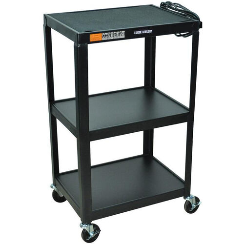 Our Fixed Height 3 Shelf Steel A/V Cart - Black - 24