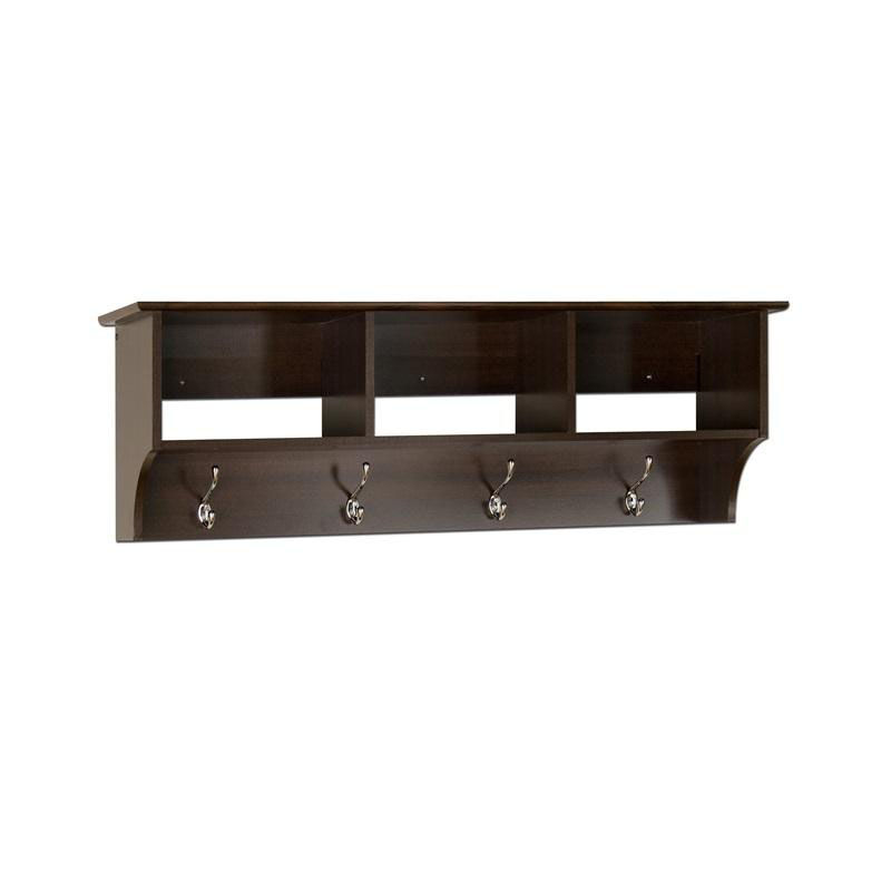 ... Our Fremont Entryway Shelf With 3 Open Storage Compartments And 4 Coat  Hooks   Espresso Is ...