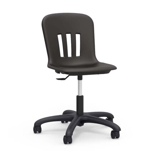 Our Metaphor Series Task Chair with Polypropylene Seat and Black Base - 24.13