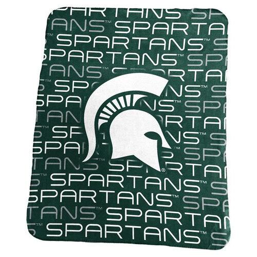 Michigan State University Team Logo Classic Fleece Throw