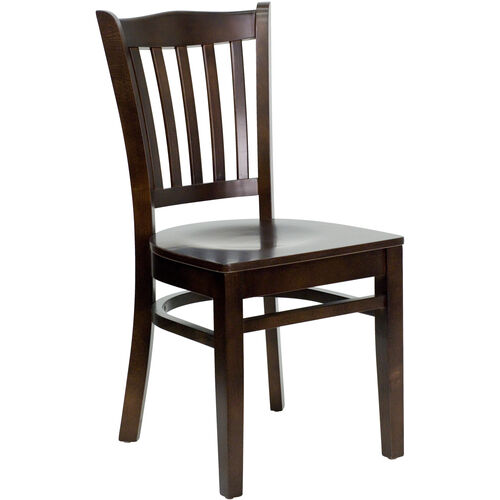 Our Walnut Finished Vertical Slat Back Wooden Restaurant Chair is on sale now.