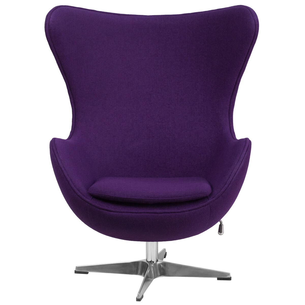 Our Purple Wool Fabric Egg Chair With Tilt Lock Mechanism Is On Now