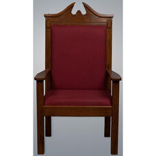 Stained Red Oak Side Pulpit Chair