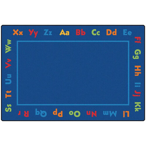 Our Kids Value Alphabet Value Rectangular Nylon Rug - 96