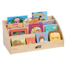 Birch Hardwood 4 Tier Toddler Book Display for Tabletops or Floor - Natural