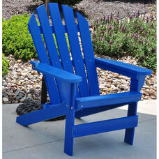Cape Cod Recycled Plastic Adirondack Chair in Blue