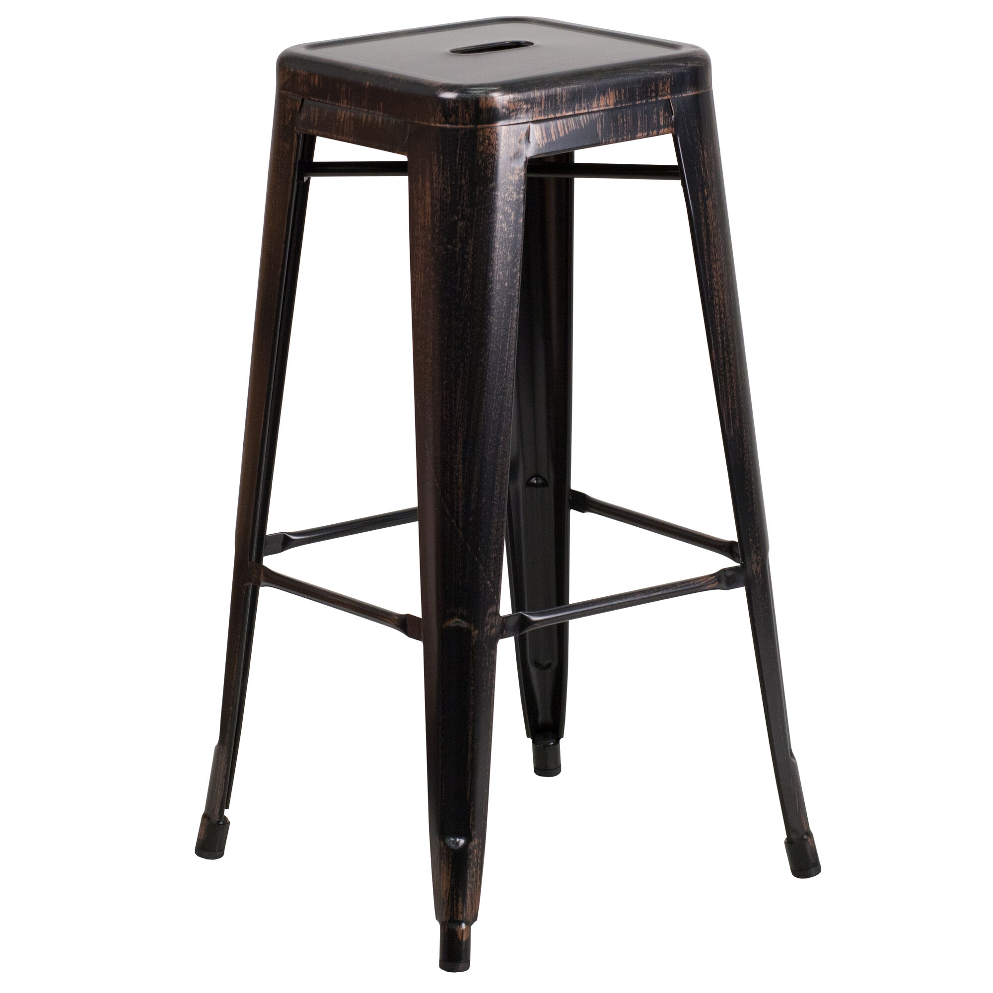 Cool Commercial Grade 30 High Backless Black Antique Gold Metal Indoor Outdoor Barstool With Square Seat Pdpeps Interior Chair Design Pdpepsorg