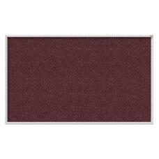 PremaTak Aluminum Frame Washable Surface Vinyl Tackboard - Berry - 4
